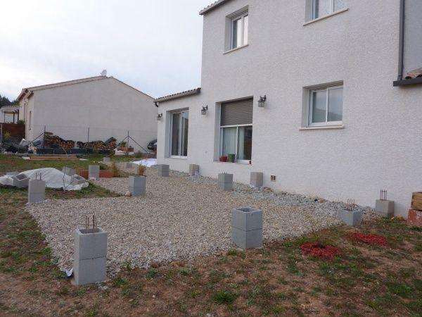 Terrasse robinier sur poutres douglas - 58 messages терраса идеи - Comment Monter Une Terrasse En Bois