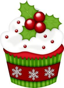 holiday cupcake clipart 1 cricut other cutting machinestips and rh pinterest co uk clip art holiday borders clip art holiday fun