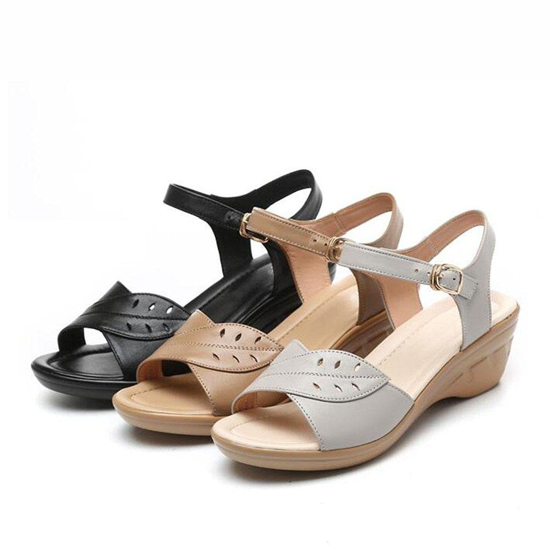 QL@YC Damen Sandalen Sommer Slope Mit Großer Yards Von Nicht