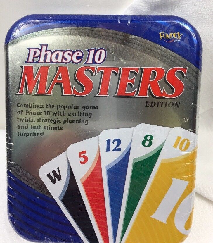 New phase 10 masters edition in tin sealed fundex