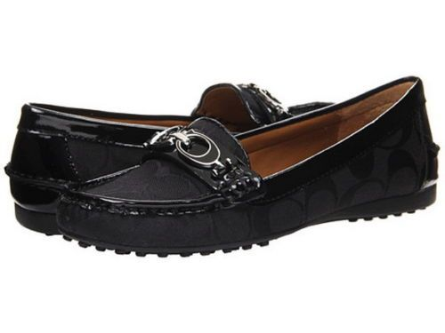 1ff07c46c66 NEW COACH FORTUNATA BLACK LOAFER DRIVING MOCCASINS Shoes Size 7.5  Coach   LoafersMoccasins