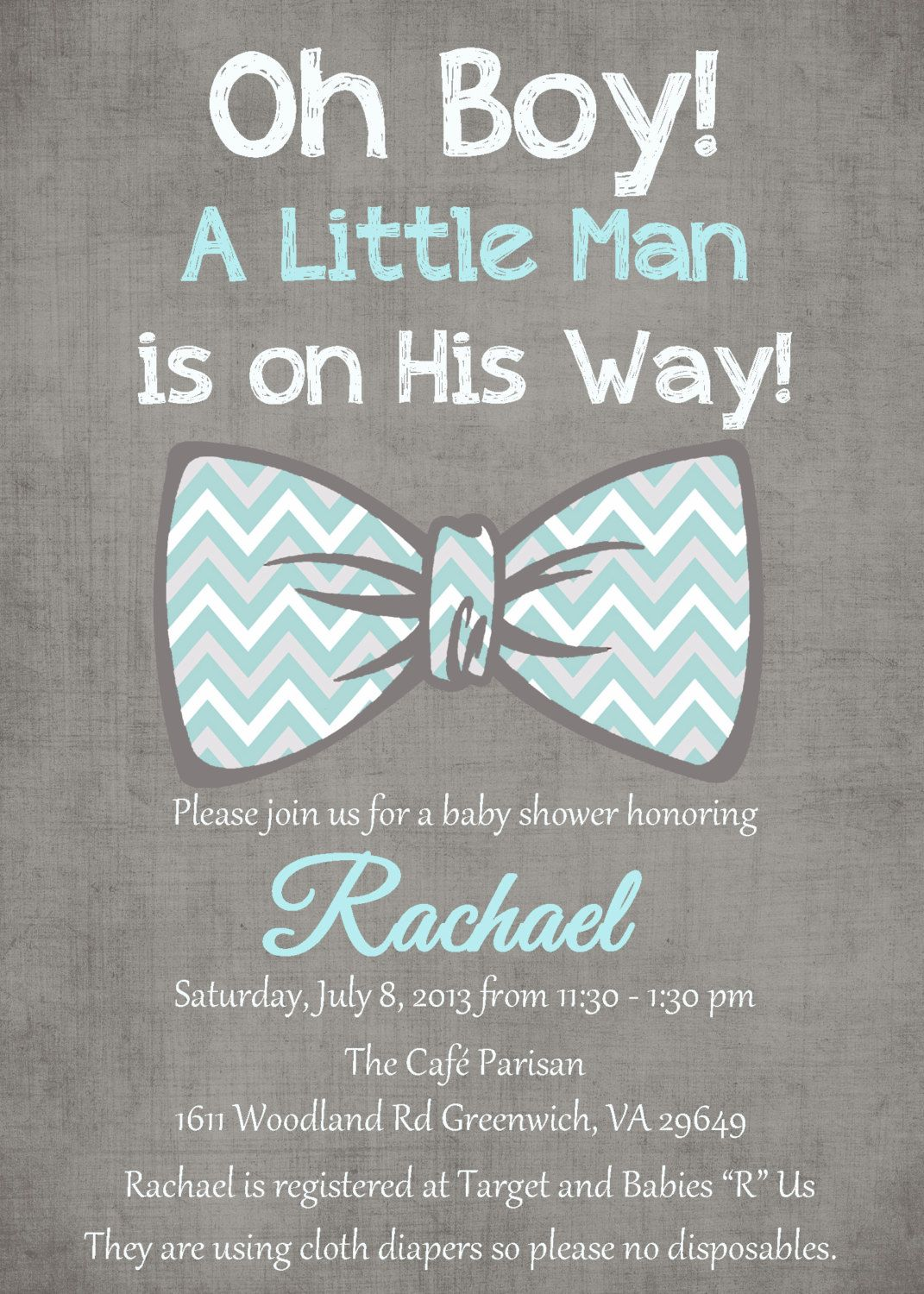 gray and white baby shower | Oh Boy Little man teal blue gray white ...
