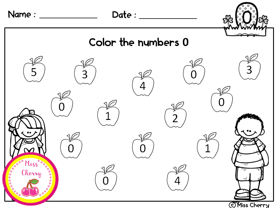 Number Recognition 020 Coloring Pages Teacher
