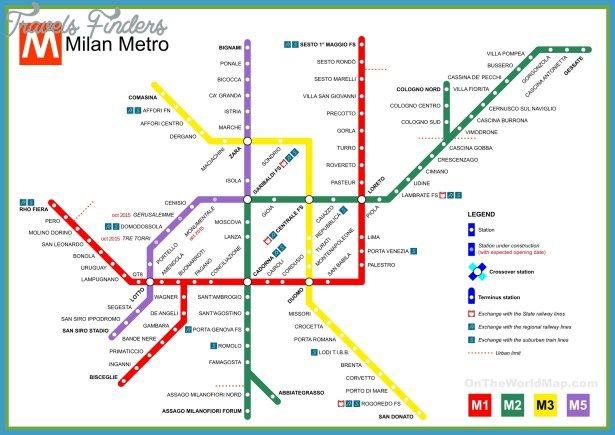 Milan Metro Map metro mapml