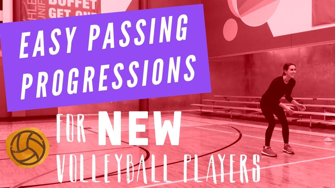 Volleyball Passing Drill Easy Passing Progressions For New Volleyball Teams Youtube Volleyball Drills For Beginners Passing Drills Basketball Drills