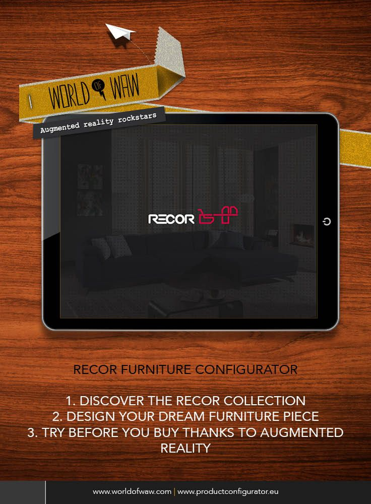 2fd6707838 The Recor furniture product configurator app let s you design the furniture  of your dreams and try it before you buy it in augmented reality! ...