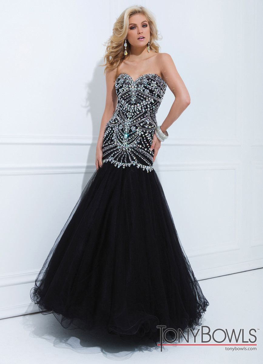 Tony Bowls Black Gown 114746 | Tony bowls, Prom and Gowns