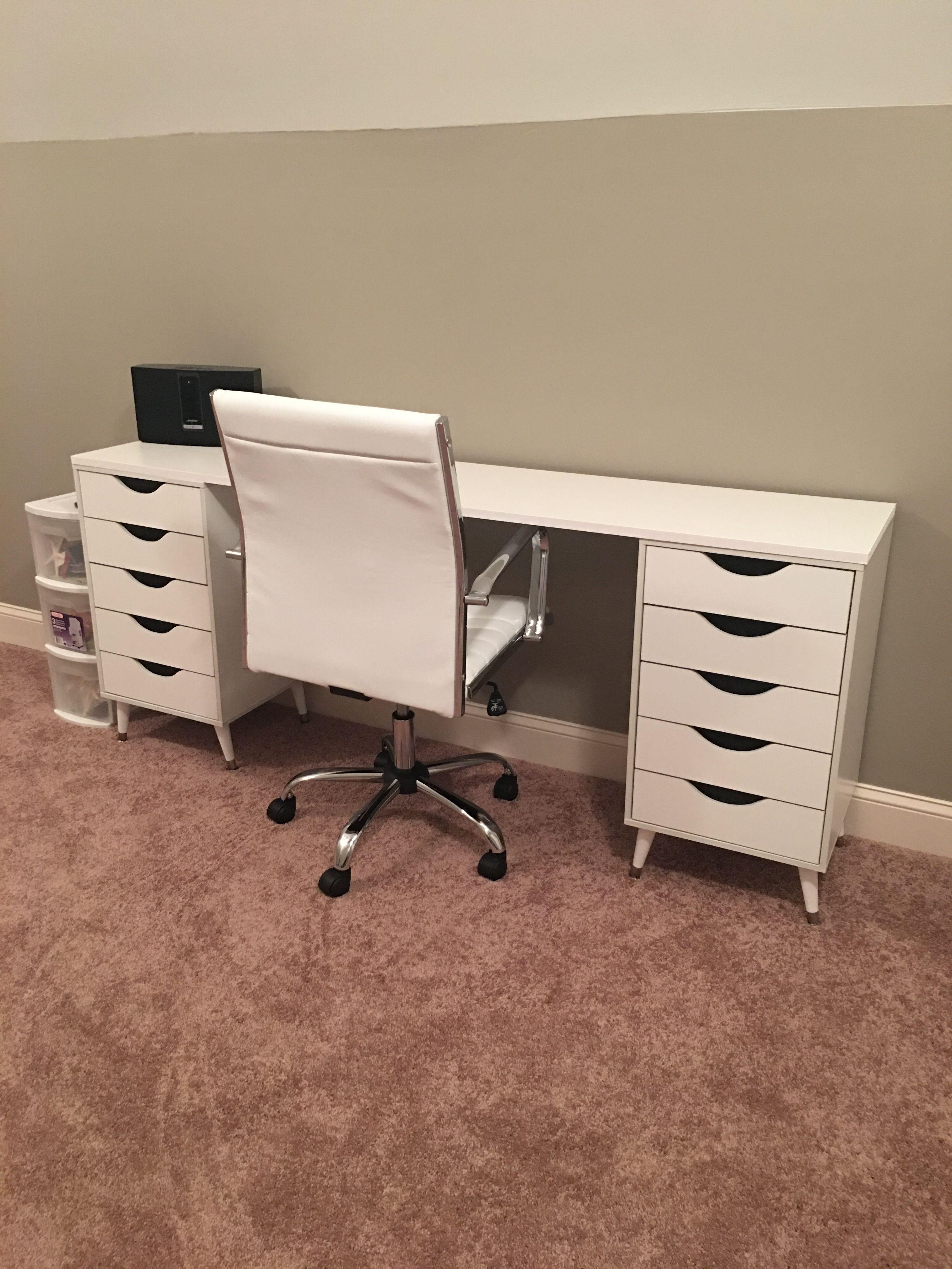 DIY IKEA Dupe Vanity / Writing Desk 6 feet Ikea diy