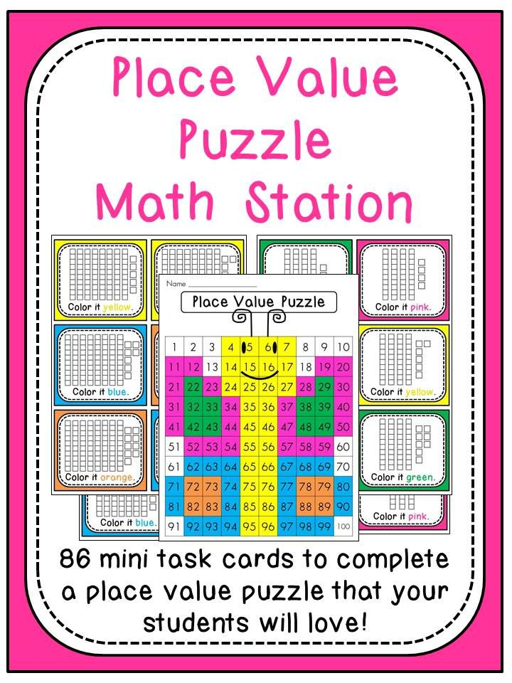 Butterfly Place Value Puzzle Center First Grade Friends