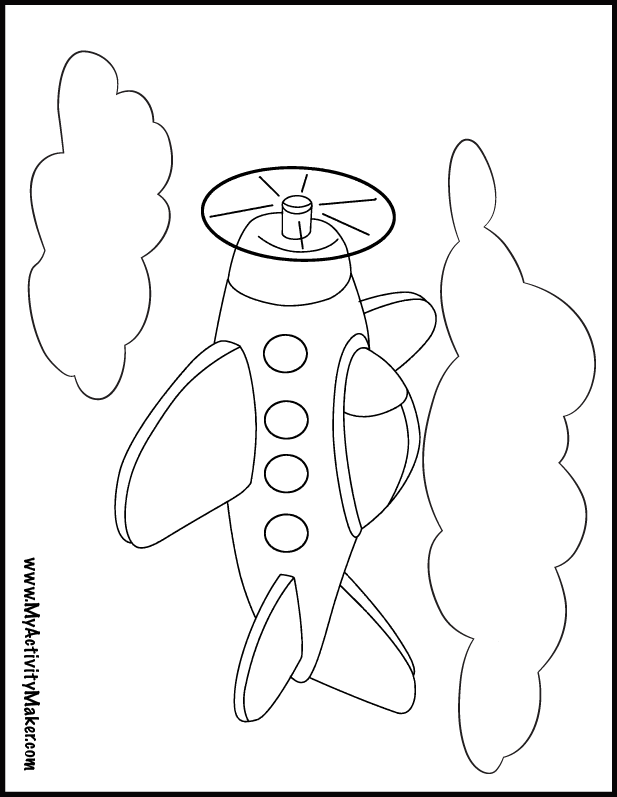 Plane colouring in | transfers | Pinterest | Coloring pages ...