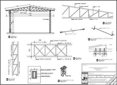 Servicos Estructura Del Tejado Estructura De Techo Estructura De Acero