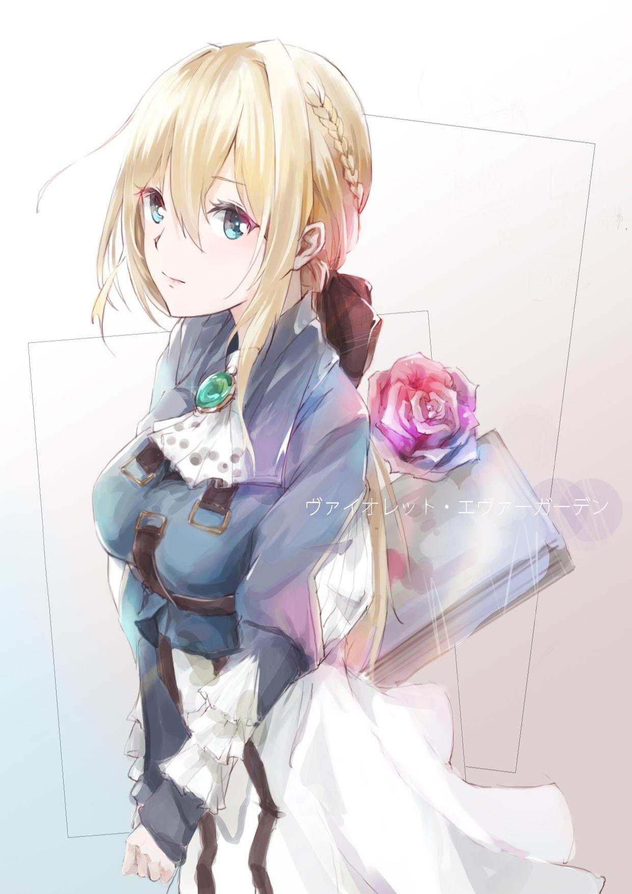 herunterladen hintergrundbild violett evergarden weinen manga