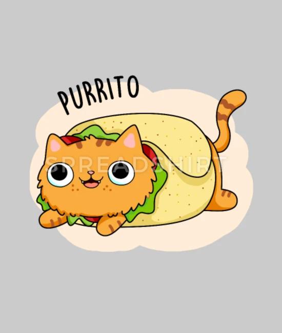 Purrito Cute Kitty Cat Burrito Pun Beanie Spreadshirt In 2020 Cat Puns Cute Puns Cute Cats