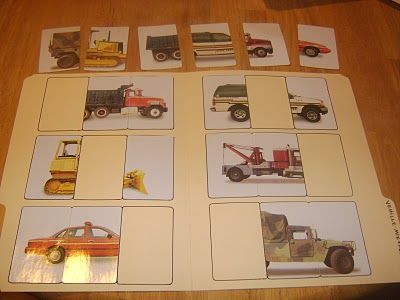 File folder games with card games from the dollar store