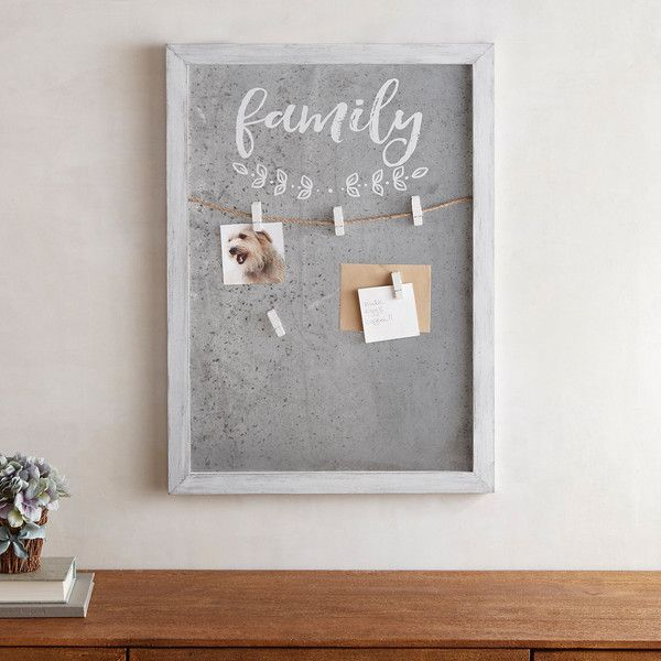 Pier 1 Imports Magnetic Welcome 5 Clip Wall Frame ($30) ❤ liked ...