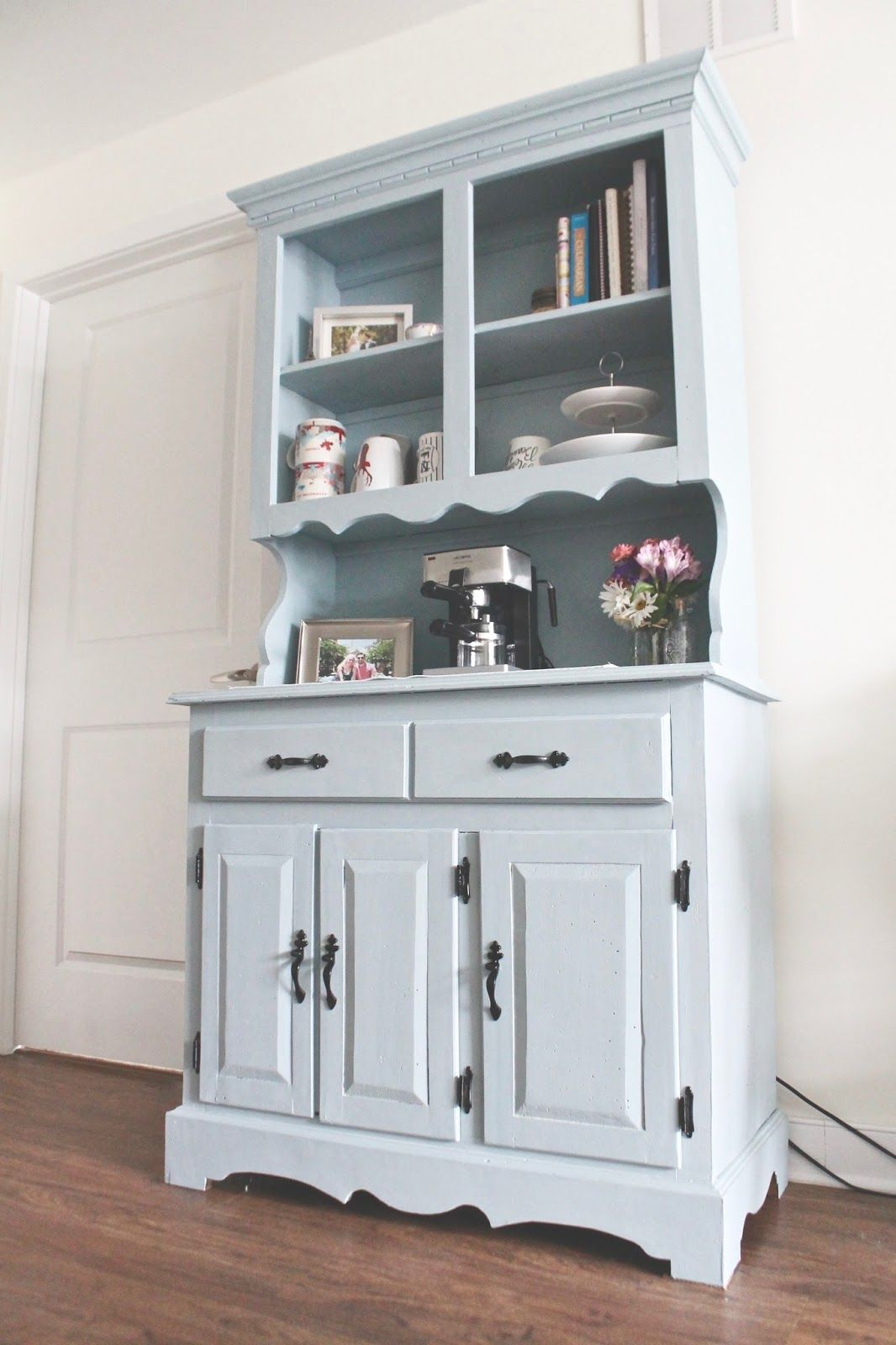 Jennifer Anne My Diy Hutch Makeover Miss Fix It Pinterest