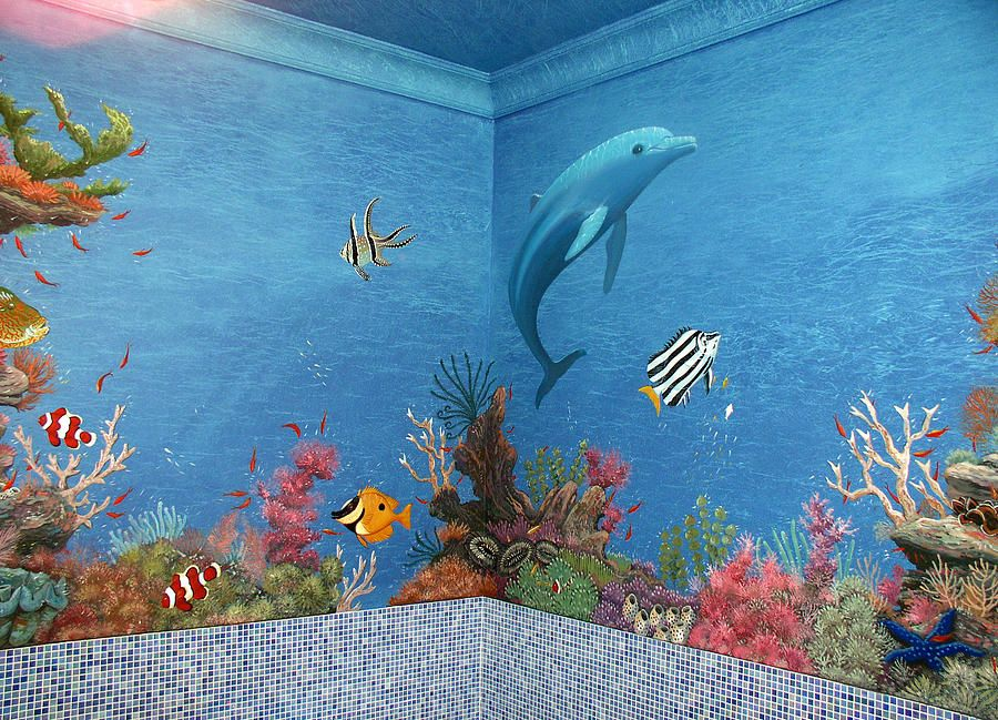 Dolphin Underwater Canvas Print / Canvas Art by Artur Sula