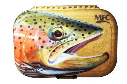 NEW MONTANA FLY COMPANY SUNDELL RAINBOW TROUT POLY FLY BOX mfc fishing slit foam