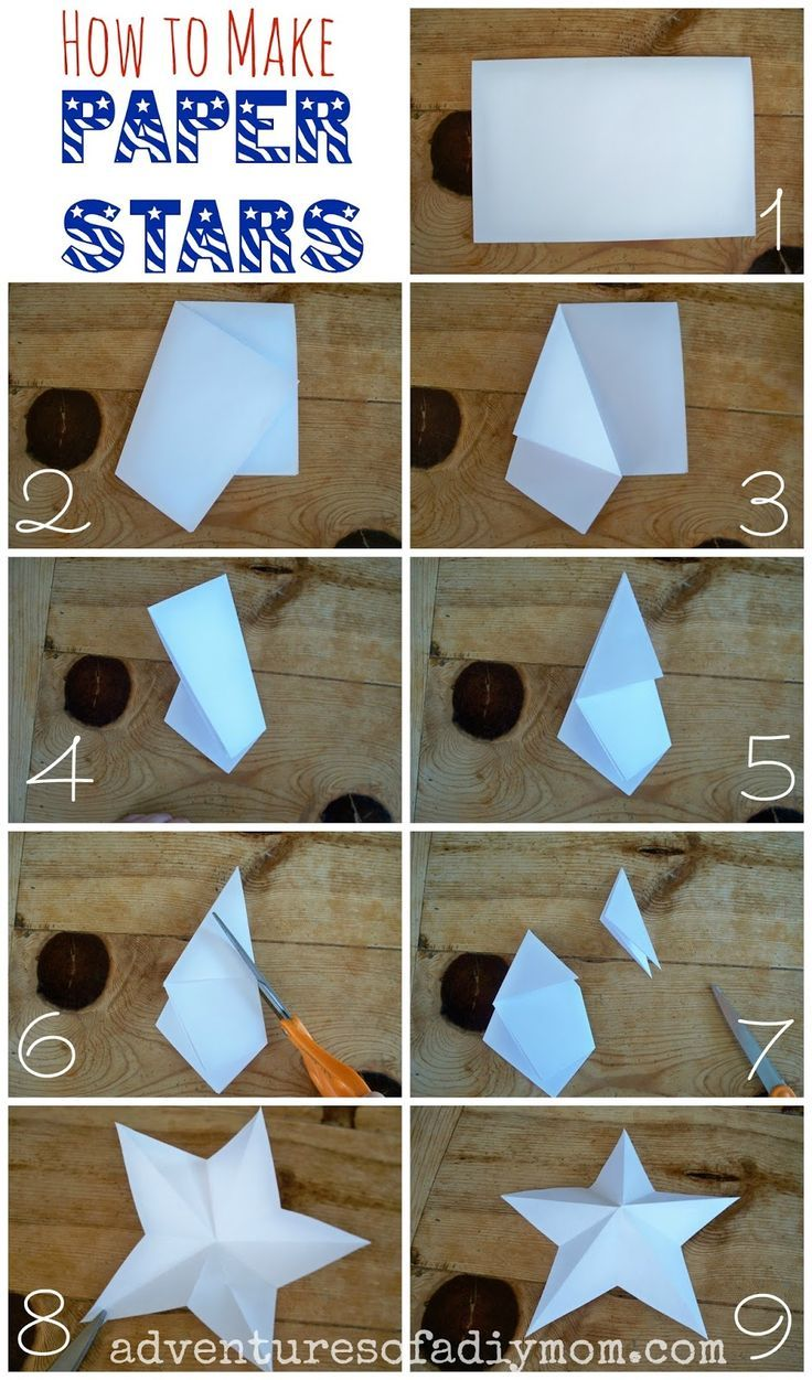 How to make christmas decorations out of paper - Adventures Of A Diy Mom How To Make 3 D Paper Stars