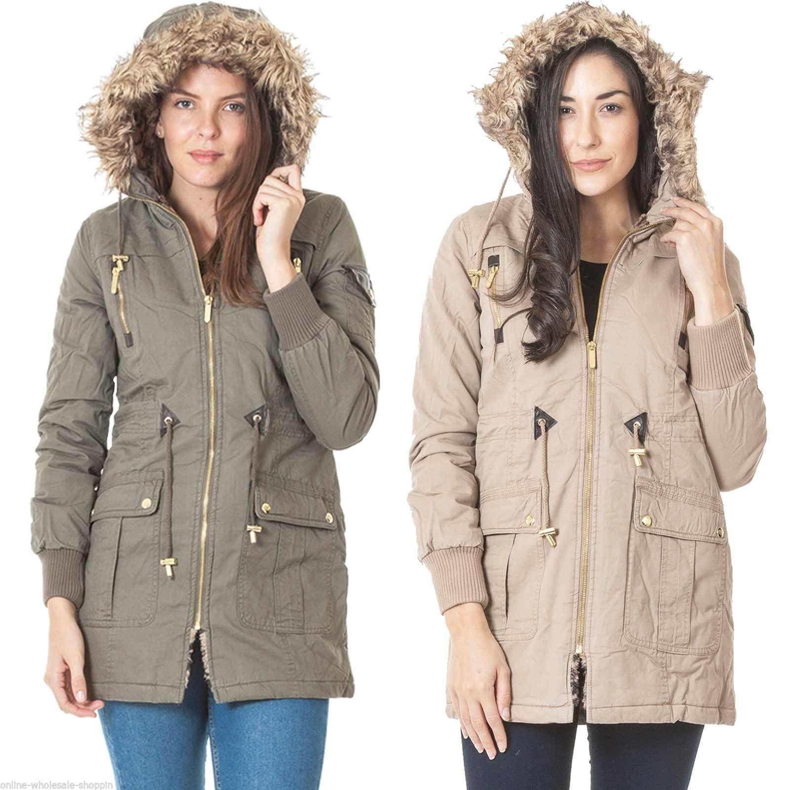 Coats Jackets And Vests 175783 New Womens Brave Soul Parka Fur
