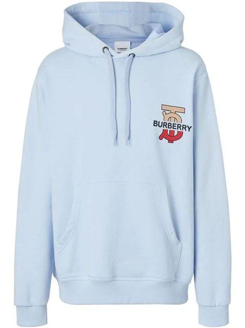Blue Men S Monogram Motif Hooded Sweatshirt Hooded Sweatshirts Mens Monogram Burberry [ 1125 x 843 Pixel ]