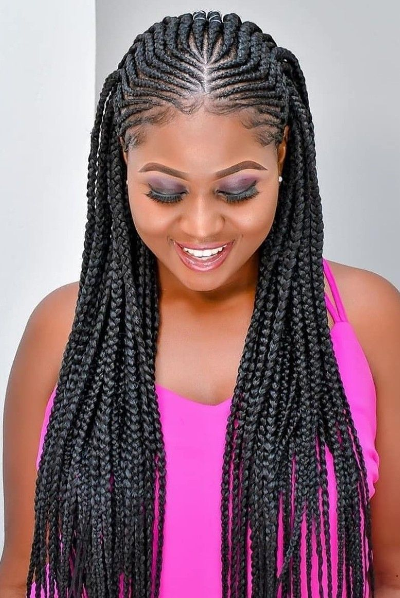 Pin By Merry Loum On Tresses Africaines Braided Cornrow Hairstyles Braided Hairstyles Hair Styles
