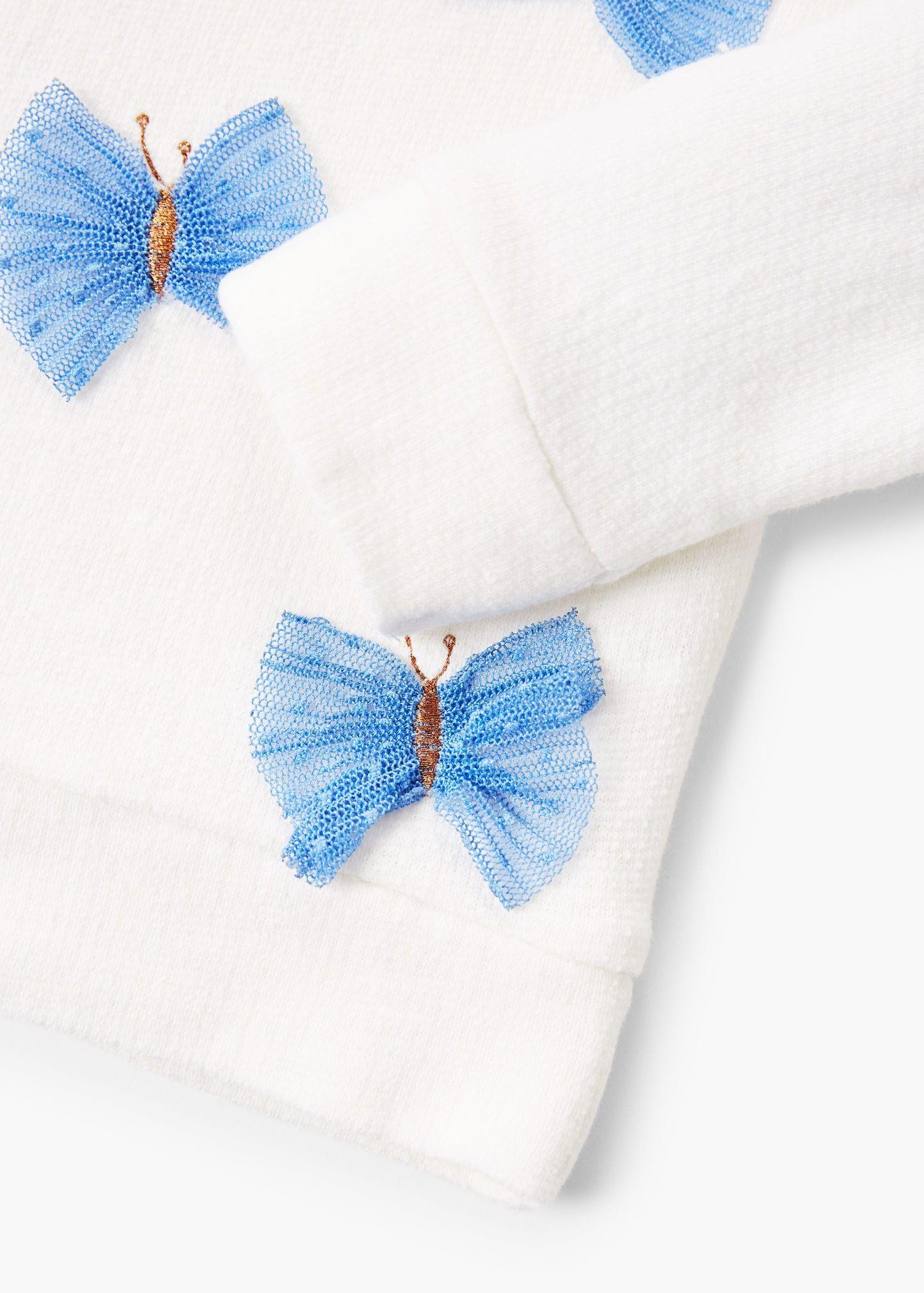 Lace butterflies sweatshirt – Girls