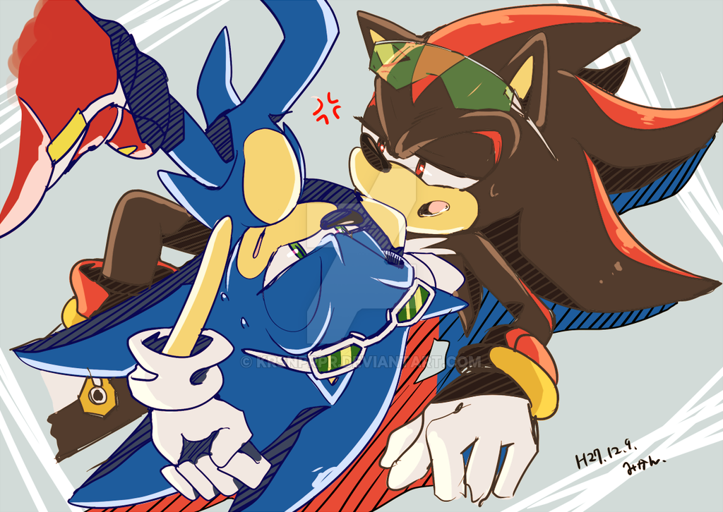 Sonic shadow by krsnprpr on deviantart sonic riders d - Sonic et shadow ...