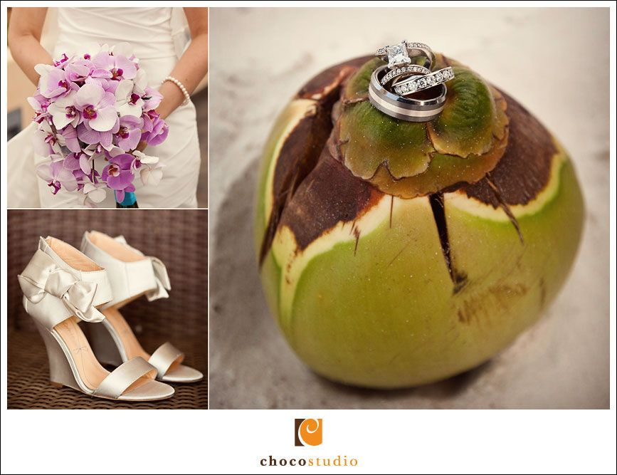 Wedding details at Barcelo Maya resort