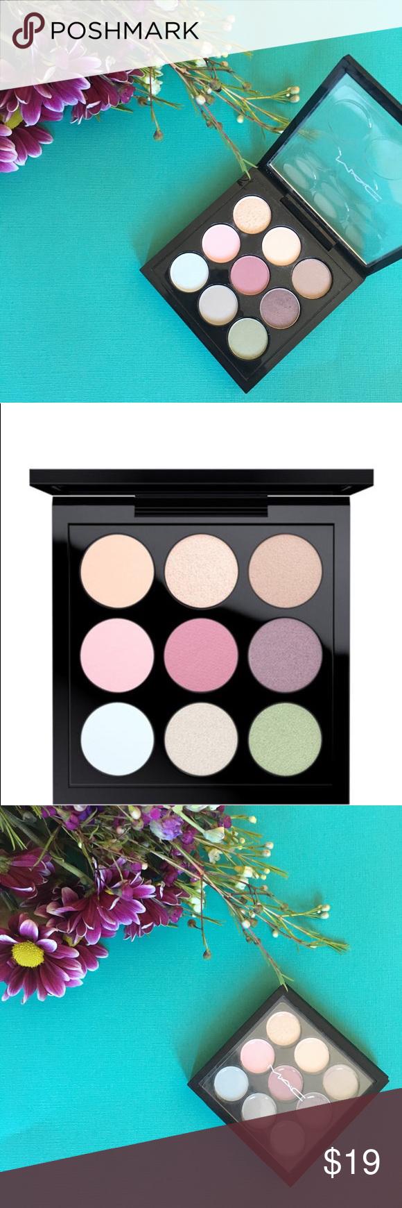 MAC Eyeshadow Palette pastel x 9 used once Mac eyeshadow