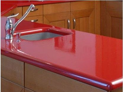 Corian Red Countertop For Kitchen   Buy Corian Red Countertop,Countertop  For Kitchen,Red Quartz Kitchen Countertop Product On Alibaba.com