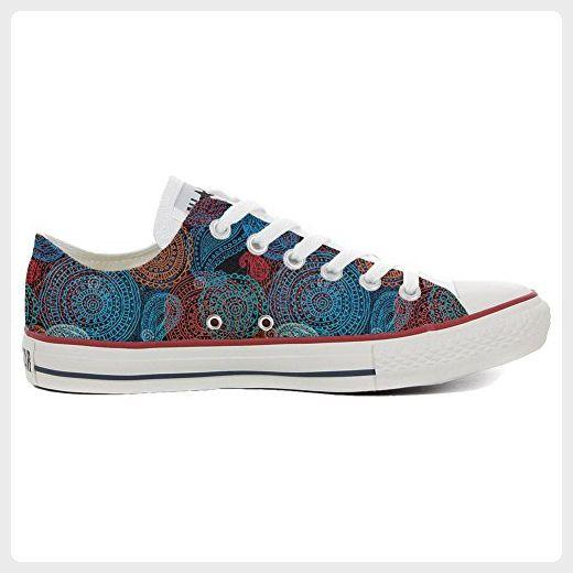 Converse Custom Slim personalisierte Schuhe (Handwerk Produkt) Back Groud Paisley  35 EU