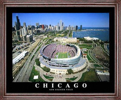 Chicago Bears - New Soldier Field - Framed 26x32 Aerial Photograph