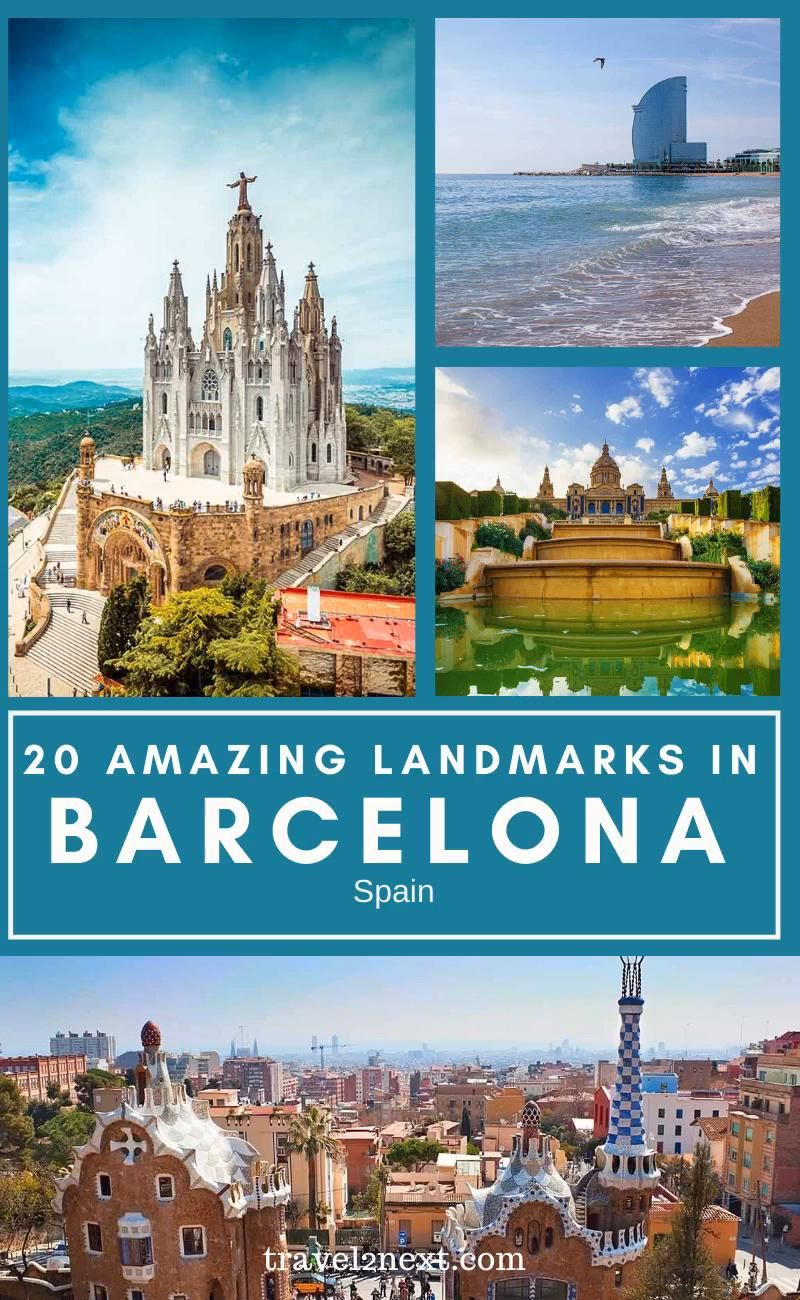 20 Incredible Landmarks in Barcelona. The Catalan city of Barcelona is the perfect mix of white sandy beaches, old-meets-new architecture and stunning mountain scenery. A city full of famous sights, there are plenty of landmarks in Barcelona to tick off your to-visit list. #barcelona #travel #europe #spain #traveltips #travelideas #spanish #vacation