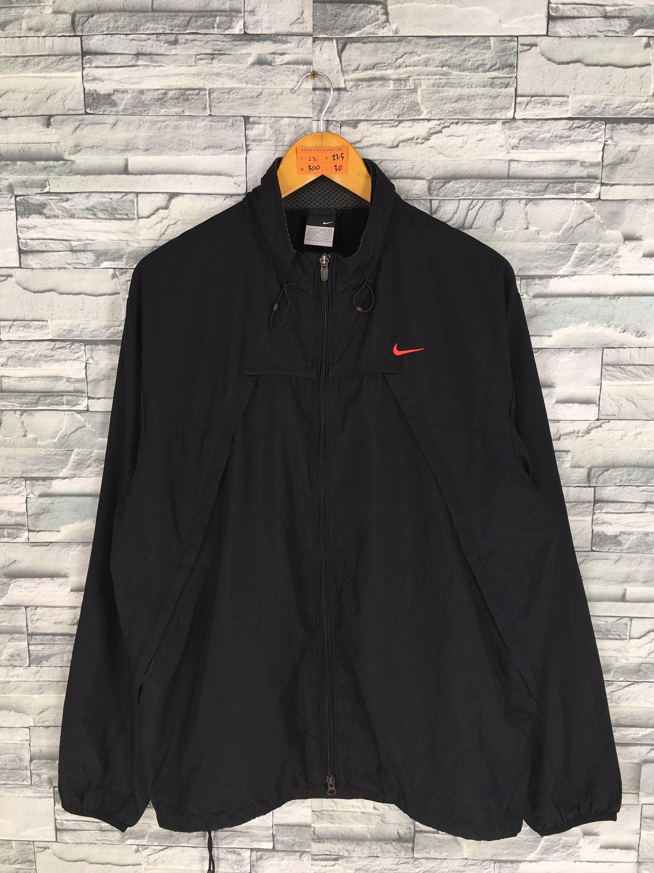 f5a8a96da14b NIKE Windbreaker Jacket Hoodie Large Nike Swoosh Nike Black Windrunner Nike  Just Do It Sportswear Nike