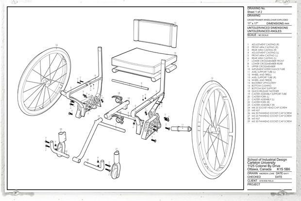 Crosstrainer Wheelchair By Andrew Lowe At Coroflot Com Wheelchair Plastic Chair Assembly
