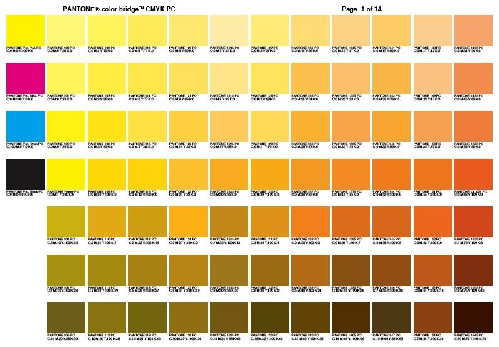 Cmyk Color Chart Use A Color Bridge Chart Use A Color Bridge Chart