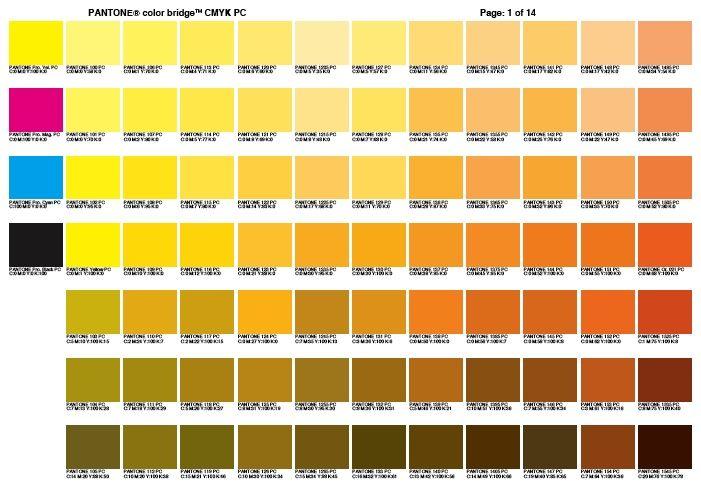 Cmyk Color Chart Use A Color Bridge Chart Use A Color Bridge
