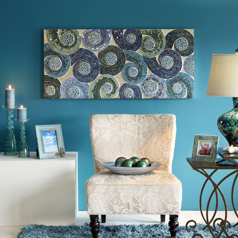 Pier One Living Room Mosaic Swirls Wall Panel Blue Pier 1 Imports Living Room