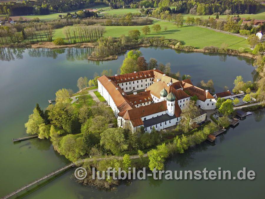 Seeon Kloster Luftbild, Burg, Kloster