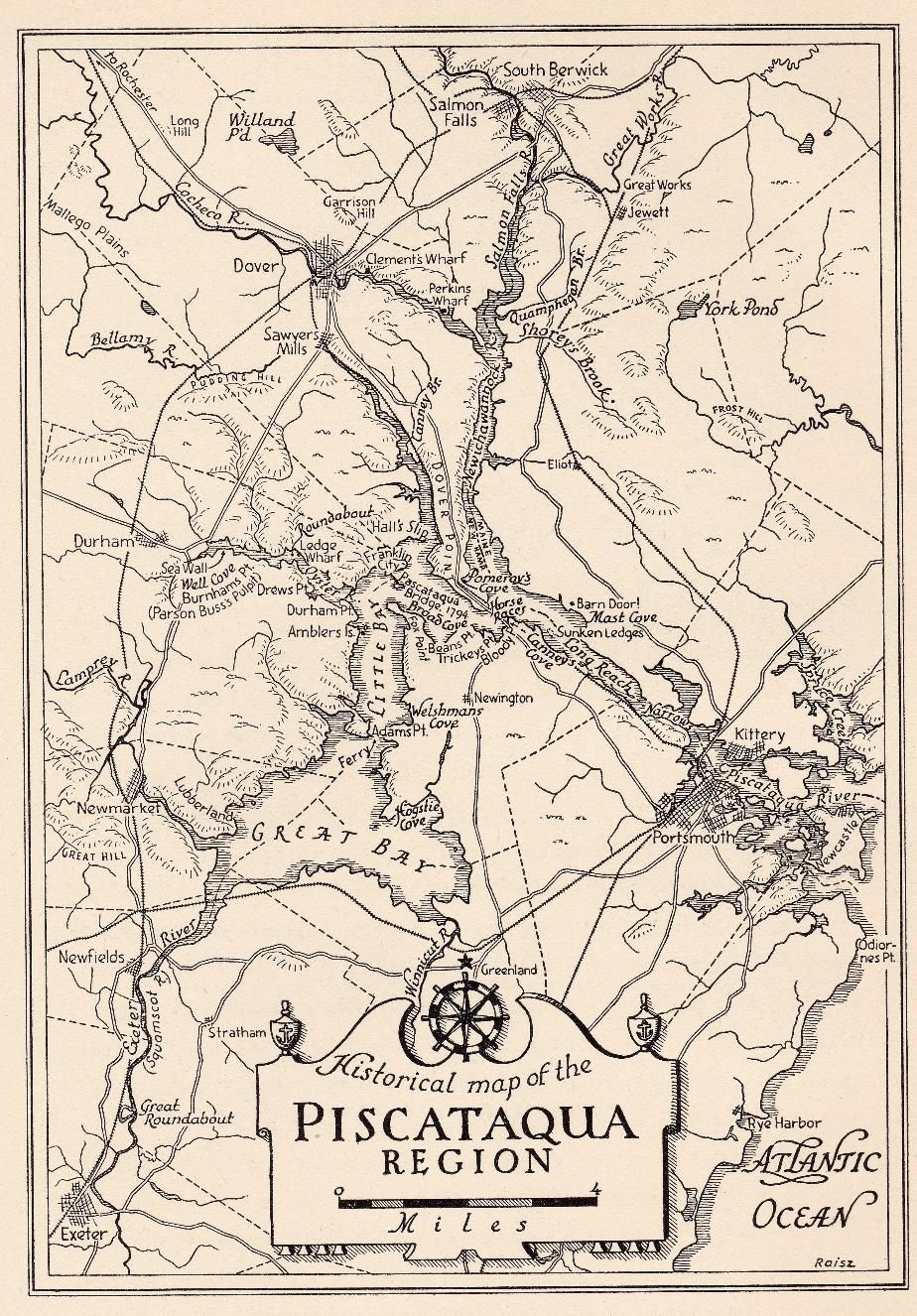Historical Map of Piscataqua, Portsmouth NH | Seacoast New Hampshire ...