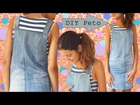ba046855c9 DIY Peto   Cómo hacer un peto de un pantalón viejo - DUNGAREES - YouTube