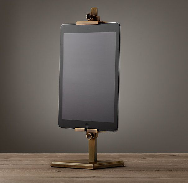 Metal Easel Stand For Ipad - Vintage Brass