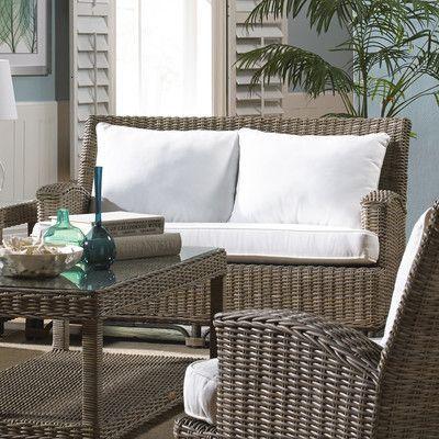 Panama Jack Sunroom Exuma Loveseat with Cushion Upholstery Bahamian