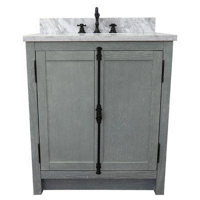Gracie Oaks Ziemer 31 Single Bathroom Vanity Set Color Gray Ash