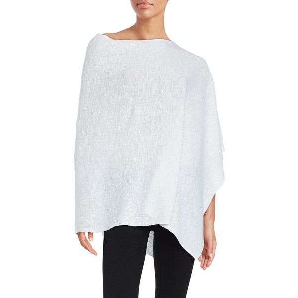 Eileen Fisher Linen-Blend Poncho ($128) ❤ liked on Polyvore ...