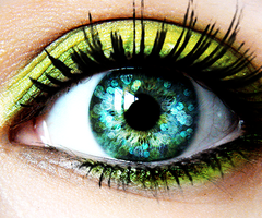 neon eye color. (: that would be cool for contacts