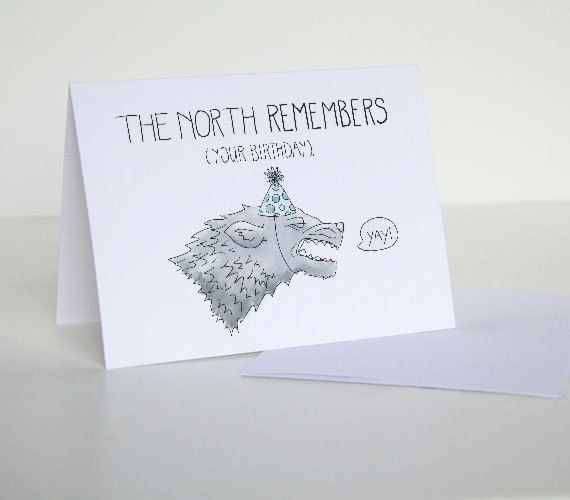 The North Remembers Your Birthday 4 X 6 Game Of Thrones By