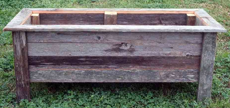 Rustic Barnwood 36 Inch Rectangle Planter Box Wood Planters Planter Boxes Barn Wood Projects