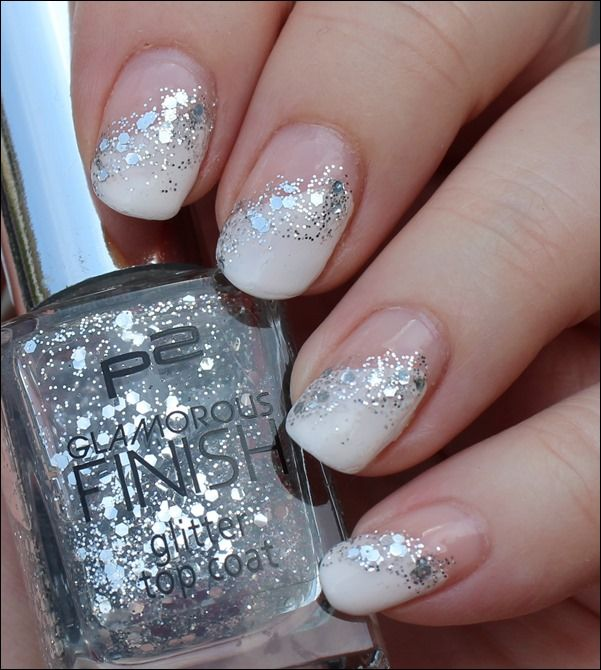 Nail Art Glitter French 03 French Nagel Muster Nageldesign Nagelideen